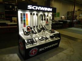 Custom Retail Display with LED Lighting and Graphics -- View 1